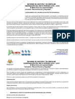 Instructivo Para Informe de Gestión Empalme 2016 - 2019 - Gobernación Del Meta