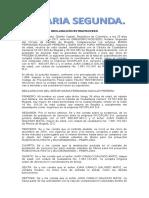 Declaración Extraproceso Falta de Subordinación