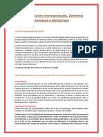 Organizaciones internacionales, Derechos Humanos y democracia