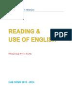 - Cambridge English Advanced. Reading & Use of English - Practice With Keys