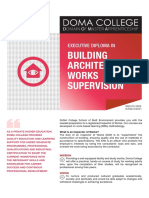 Building Architectural Work Supervision