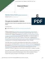 Um País Em Tumulto e Inércia - 09-05-2019 - Vinicius Torres Freire - Folha