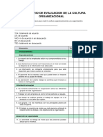 Cuestionario de Evaluacion de La Cultura Organizacional