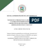Estudio de Factibilidad Para El Aprovechamiento y Valorización de Residuos Sólidos en La Corporación de Organizaciones Campesinas e Indígenas de Huaconas y Colluct