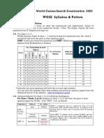 Syllabus Pattern