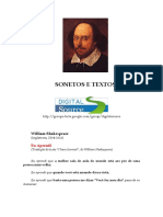 William Shakespeare - Sonetos e Textos
