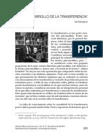 El Desarrollo de La Transferencia Ida Macalpine