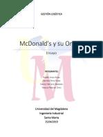 McDonald Logistica