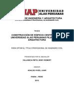 CONSTRUCCIÓN DE EDIFICIO CENTRAL DE LA UNIVERSIDAD ALAS PERUANAS FILIAL PIURA – ARQUITECTURA