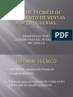 Informe Técnico de Crecimiento de Ventas Por Droguerías