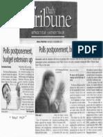 Daily Tribune, Nov. 4, 2019, Polls postponement, budget extension up.pdf