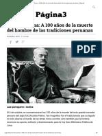 Ricardo Palma_ a 100 Años de La Muerte Del Hombre de Las Tradiciones Peruanas _ Página3