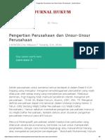 Pengertian Perusahaan Dan Unsur-Unsur Perusahaan - Jurnal Hukum