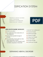 Classification System in psychiatry