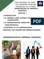 Administracion de Empresas Pesqueras Capitulo i Exposicion en Ppt - Copia