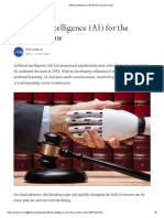 Artificial Intelligence (AI) for the Practice of Law