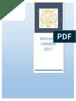 Memoria Unmsm 2017