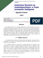 00000000000000000 CUEVA Os Movimentos Sociais No Equador Contemporâneo_ o Caso Do Movimento Indígena