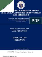 Comparison of Quantitative and Qualitative
