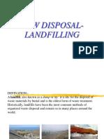 Msw Disposal- Landfilling