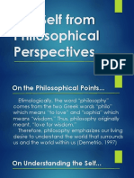 Self Philiosophical Perspectives