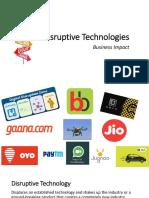 Disruptive Technologies Session1