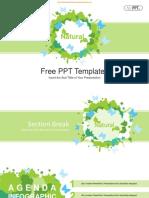 Watercolor Butterflies Tree PowerPoint Templates