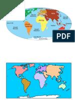 Mapa Continentes y Oceanos