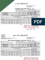 Mill Sheet