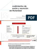 Procedimientos de Reversión y Asunción