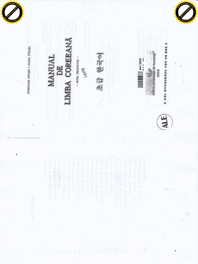 Manual de Limba Coreeana Partea 1