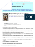 Refrigerant Charging Procedure for Air Conditioner or Heat Pump Repair or Refrigeration Equipment Repair
