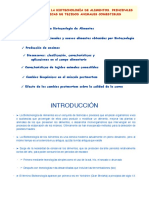 Tema 1a. Introducción a La Biotecnología de ALimentos. Alimentos de Origen Animal