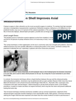 Fixed Immersion Shell Improves Axial Measurement