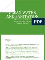 Clean Water and Sanitation MM