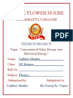Conversion of Solar energy into electrical energy Class 12th Project