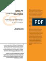 A Investigação Do Perfil Dos Alunos Como Estratégia de Ensino de Línguas No Ensino Superior