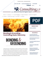 Bonding & Grounding - Controlling Static Electricity