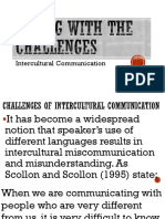 Midterm Challenges of Intercultural Communication