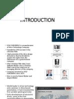 Intern Presentation Slide