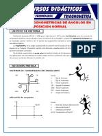 Razones Trigonométricas de Ángulos en Posición Normal Para Quinto de Secundaria