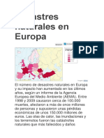 Desastres Naturales en Europa