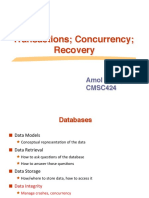 concurrency control and reconvery
