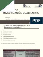 Clase - Diseños de Investigación Cualitativa