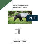 Lembar Hasil Observasi Tapir