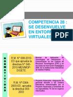 Competencia 28 Se Desenvuelve en Entornos Virtuales