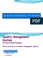 Presentation on Quality Assurance on Roads