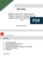 """Hybridity"" by Homi Bhabha"