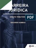 Direito tributário - Eduardo sabbag - carreiras juridicas