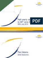 2010 Half-Year Report Presentation